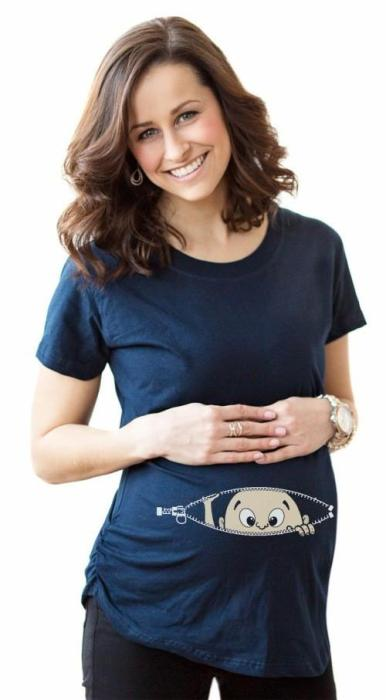 Gravida Blousing Loose Fit Clothes Comfortable Maternity T-shirt