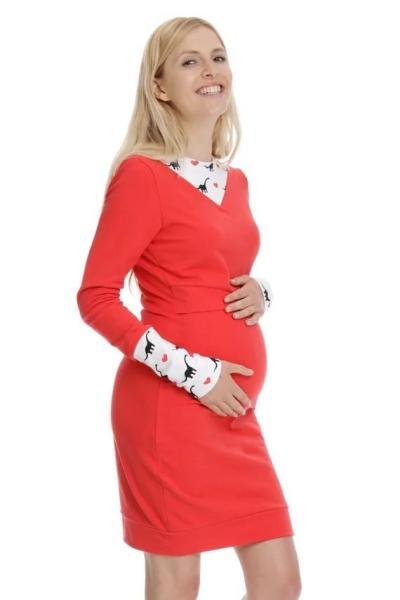 Autumn Maternity Nursing Dresses Long Sleeve Mothers Breastfeeding Dress