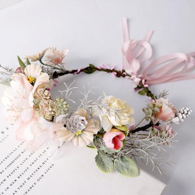 Maternity Pink streamer bow headband