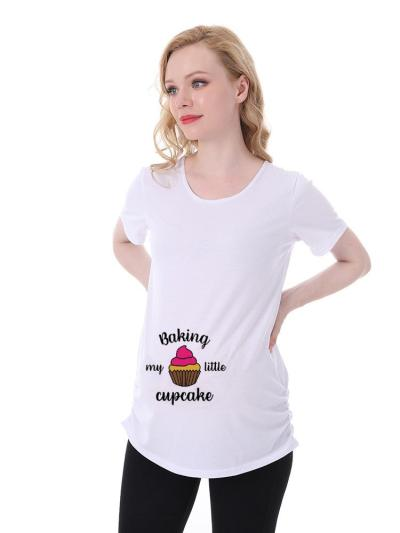 Summer Pregnant Women Wearing Short-Sleeved T Shirt