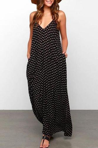 Maternity Polka Dots Cami Dress