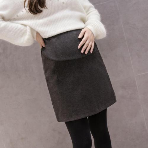 Maternity Stomach Lift Split Woolen Skirt