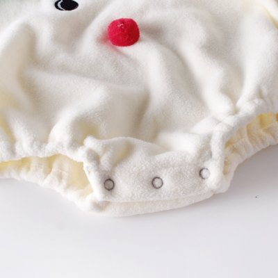 Christmas Winter Baby Round Collar Baby Antlers Linked to the Garment Climbing Dress