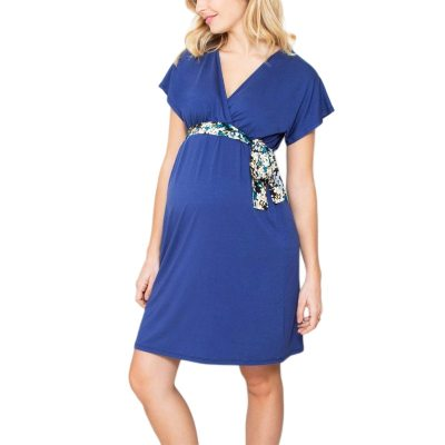 2020 Women's Pregnancy Dress Summer V Neck Short Sleeve Maternity Dresses
