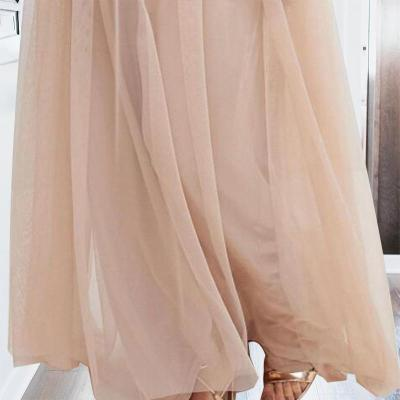 Maternity Off Shoulder Maxi Tulle Dress With Tonal Delicate Sequins