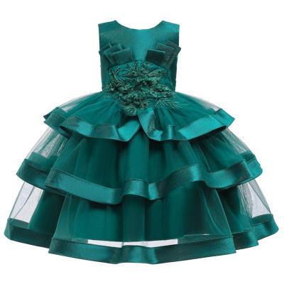 Multi-Layered Lace Embroidered Catwalk Princess Dress