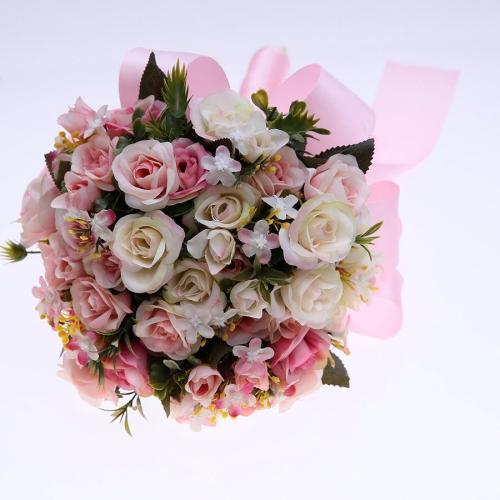 Handmade Artificial Bouquet Bridesmaids Bouquet Hand Tied Flower Party Decor