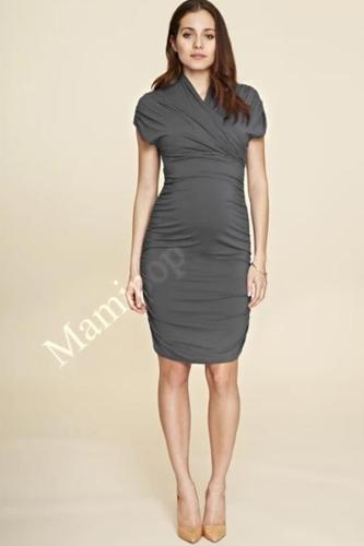 Maternity Women Dresses Short Sleeve Sexy V-Neck Knee Length Dresses