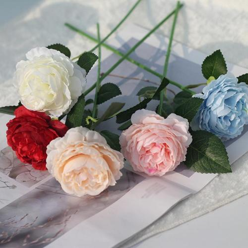 Simulation Ocean Peony Rose Foam Core Bouquet Decoration headwear