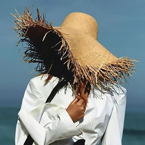Summer Raw Edge Lafite Hat Sunscreen Visor