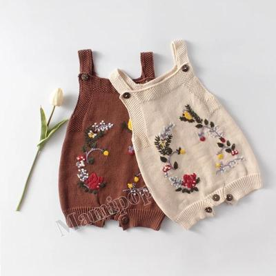 Squirrel Manual Embroidery Baby Knitted Woolen Knitted Woolen Romper