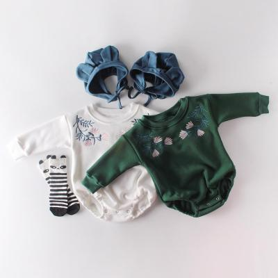 Winter New Boys and Girls Embroidered Baby Long Sleeve one-piece creeper