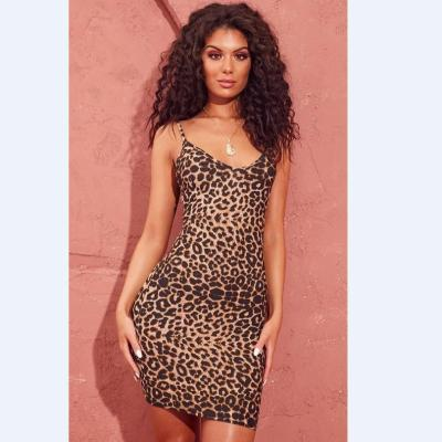 2020 Summer Leopard Print Dress Sleeveless Slim Sexy Suspender Maternity Skirt