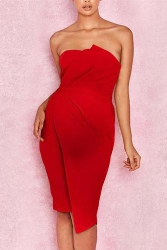 Maternity New Plain Shoulder Out Tube Top Dress
