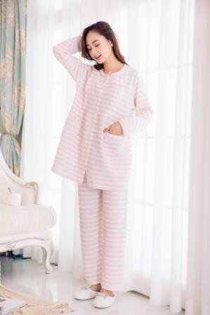 Long Sleeve  Breastfeeding Pajamas Set