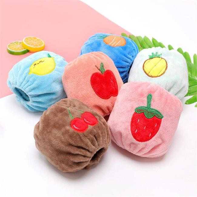 1 Pair Baby Children Dustproof Cuffs Oversleeve Fruit Sleeve Colorful Warmer Children's baby warm anti-fouling suede sleeves