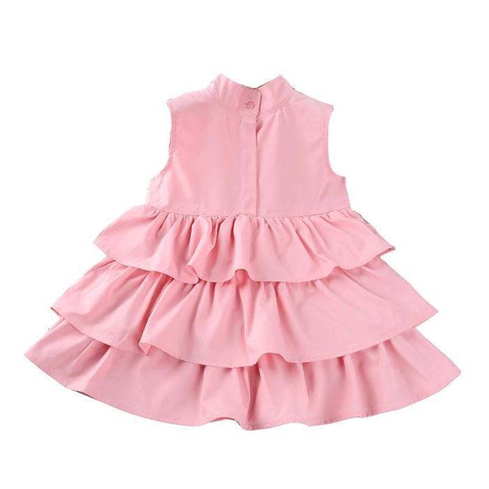 Girls' Spring/Summer Sleeveless Dress Children Princess Dress 2020