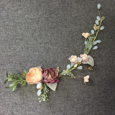 Wedding bridesmaid garland ear hook two-piece suit Headwear