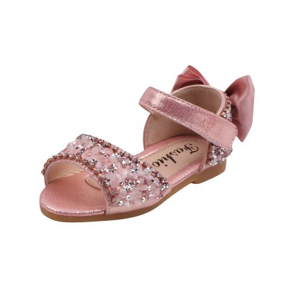 New 2020 Fashion Toddler Kids Baby Girl Shoes Princess Shoes Summer Crystal Solid Casual Shoes Sandals