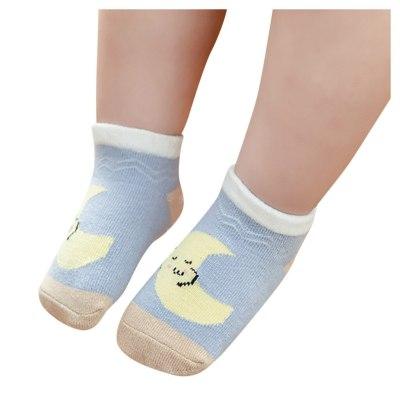 Kids Infant Baby Boys Girls Breathable Cartoon Weather Printed Socks Children's Boat Socks Non-slip Socks