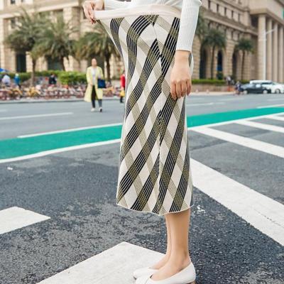 Maternity Retro Striped Printed A Line Skirt