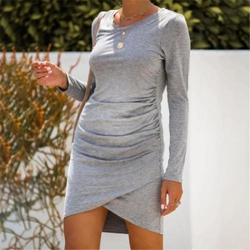 Maternity Grey Pleated Dress