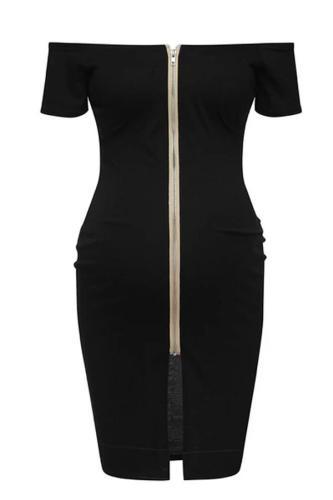 Solid Zipper Pregnancy Clothes Summer Maternity Dresses