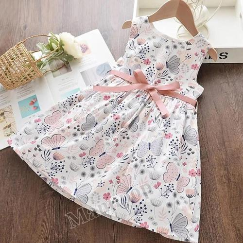 2020 women's dress summer new sleeveless print princess dress
