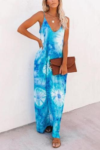 Maternity Sand Dollar Pocketed Tie Dye Olivian Maxi Dress
