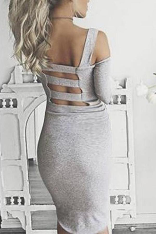 Maternity Solid Color Off Shoulder Long Sleeve Midi Dress