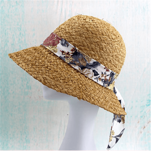 Summer Soft Ribbon Flower Straw Hat