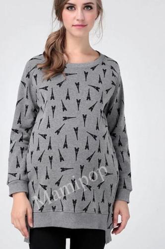 Pregnant Women Plus Long Velvet Sweater