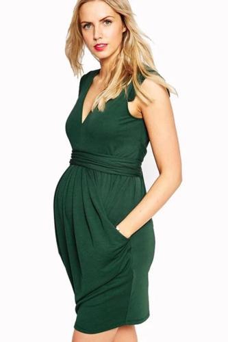 Summer Knee Length Maternity Straight Dress
