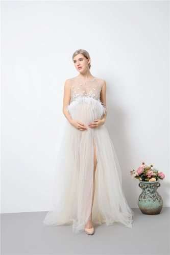 Long Maternity Props Sexy Pregnancy Dress for Maternity Photo Props