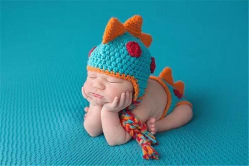 Crocheted Baby  Dinosaur Outfit Photography Props