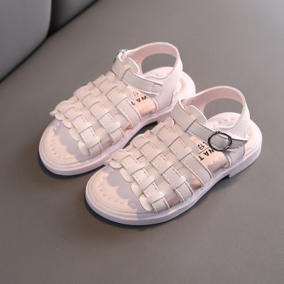 #40 Hot Sale 2020 sandals Toddler Kids Baby Girls Shoes Princess Shoes Open Toe Solid Casual Shoes Sandals