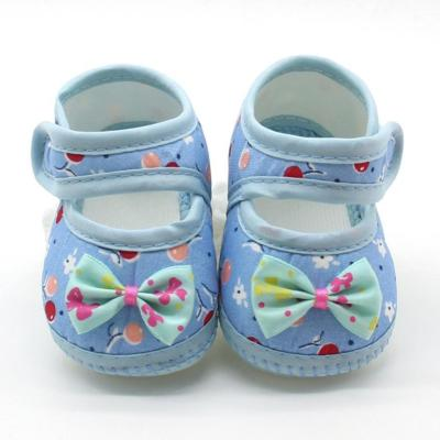 Baby Unisex Shoes 3Color Newborn Baby Bow Girls Soft Sole Prewalker Warm Casual Flats Shoes