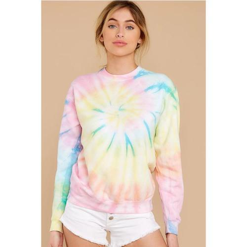 Autumn and Winter Women's New Tie-dyed Pullover Women's Sweatshirt