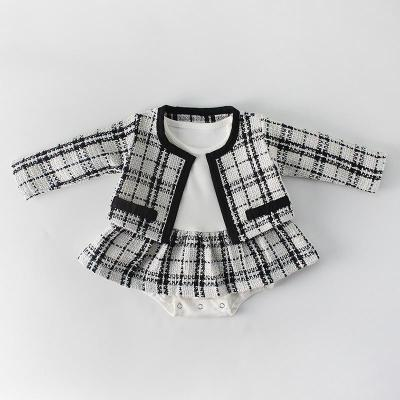 2020 Spring Baby Girl Two Piece Coat  and Dress Set