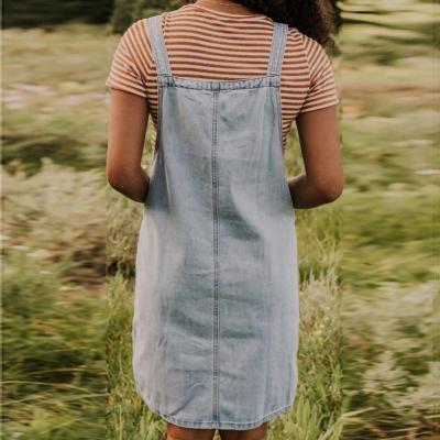 Maternity Denim Strap Skirt