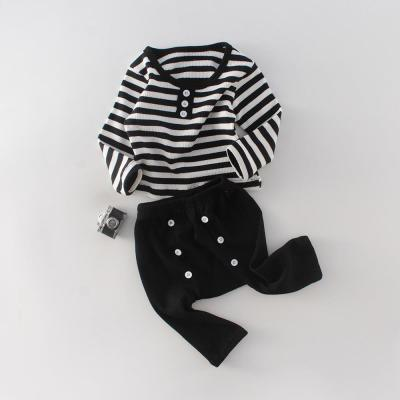 2020 Toddler Two Year old Men's Suit Stripe Top + Button Two Piece Suit