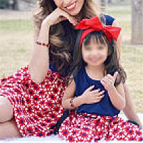 Mom Girl Sleeveless Matching Dress