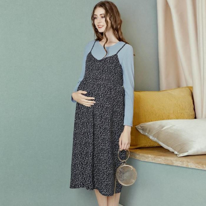 Women dress two-piece suit autumn pregnancy large size skirt fashion dress