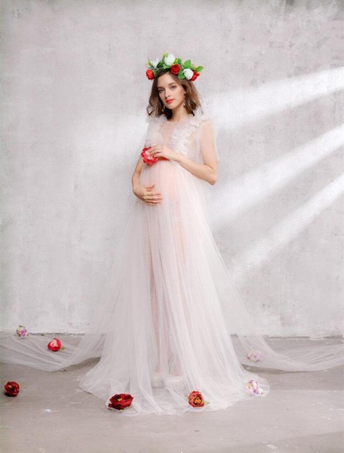 Pregnant Clothes Long Maternity Dresses For Photo Shoot Plus Size