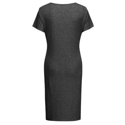 Maternity Medium - Length Split Knit Dress