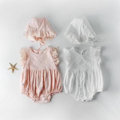 Summer Baby Girl's Baby Dress Lacey Sleeve Cotton Creeper Suit Harbin Skirt