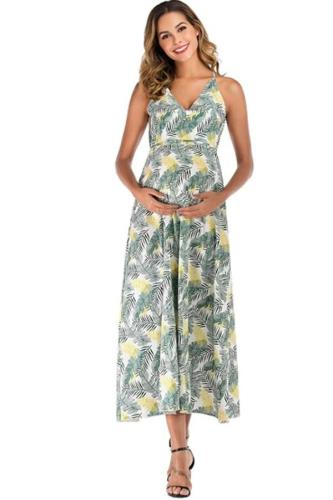 Women's sling skirt belt waist sleeveless pregnant women's jumpsuit long skirt