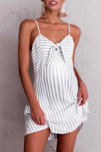 Maternity Stripe Slip Dress