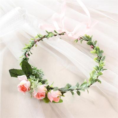 Bridal flower holiday wreath headdress