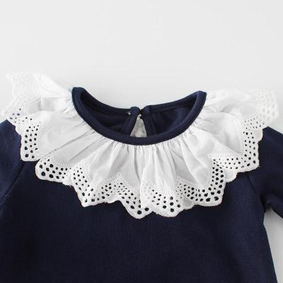 2020 Lace Collar Wrap Fart Hat Cotton Long Sleeve One-piece Creeper